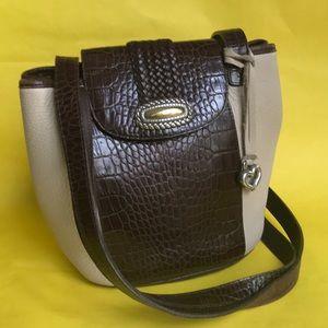 Vintage cream/brown Brighton pebbled leather bag
